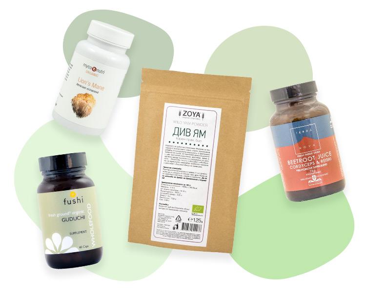 Билки, гъби, лечебни растения