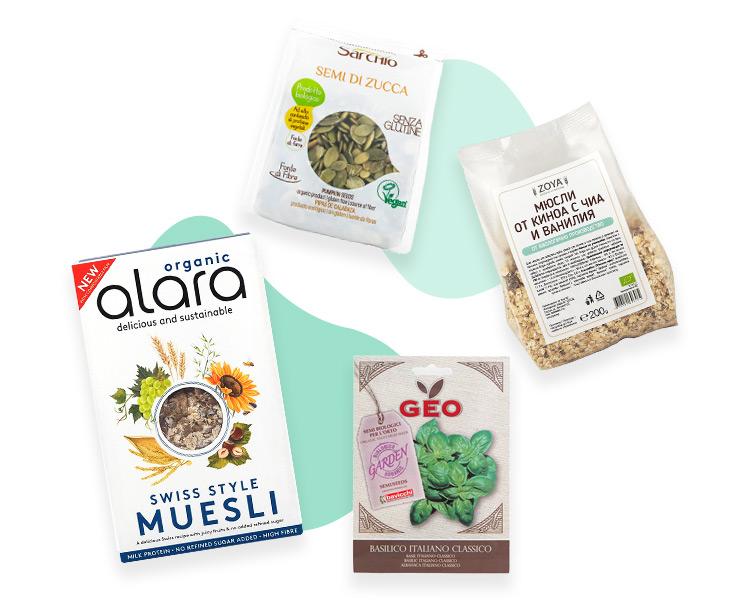 Seeds, nuts, muesli