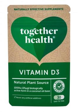 Витамин D3 с кокосово масло - 30 капсули