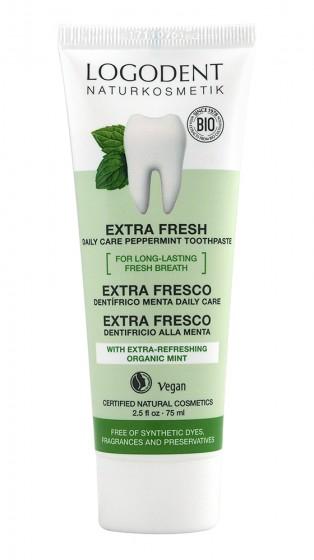 Ментова паста за зъби Extra Fresh - био - 75 мл, Logona,  75 мл