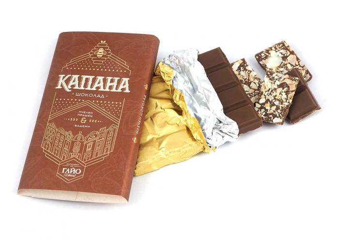 """Шоколад с пчелен прашец и бадеми """"Капана"""" - 95 г,  95 г"""