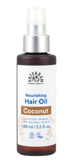 Масло за коса с кокос - био - 100 мл, Urtekram,  100 мл