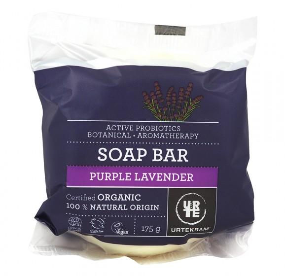 Сапун Purple Lavender - био - 175 г, Urtekram,  175 г