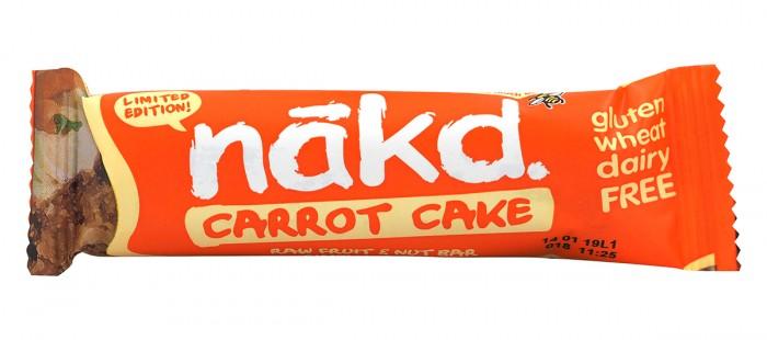 Суров десерт с морков Carrot Cake - 30 г, Nakd,  30 г