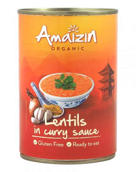 Леща с къри сос - био - 420 г, Amaizin,  420 г