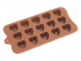 Силиконова форма 15 сърца, Silicone Moulds,  1 бр