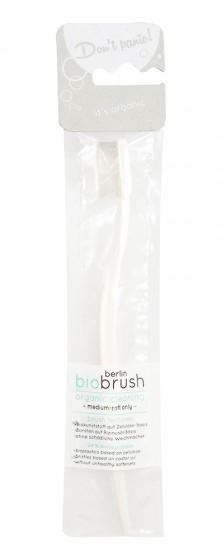 Биоразградима четка за зъби - бяла, berlin biobrush,  1 бр