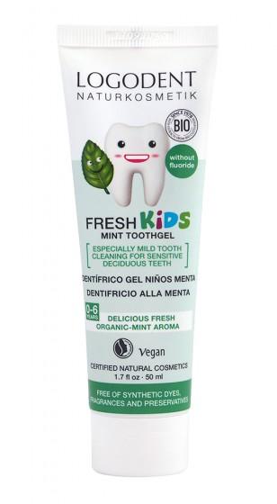 Kids dental gel Spearmint 50ml, Logona,  50 ml