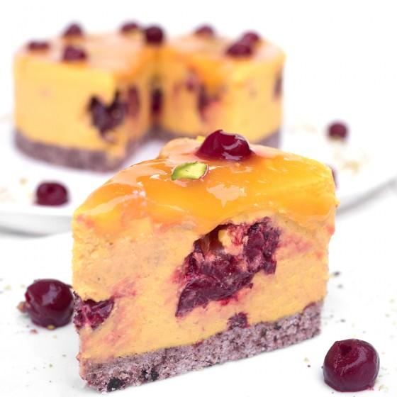 Торта манго с вишни - 8 / 12 парчета, Сладкарски цех Зоя,  8 бр,  12 бр