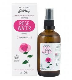 Био розова вода в стъкло и спрей 100 мл, Zoya Goes Pretty ®,  100 мл