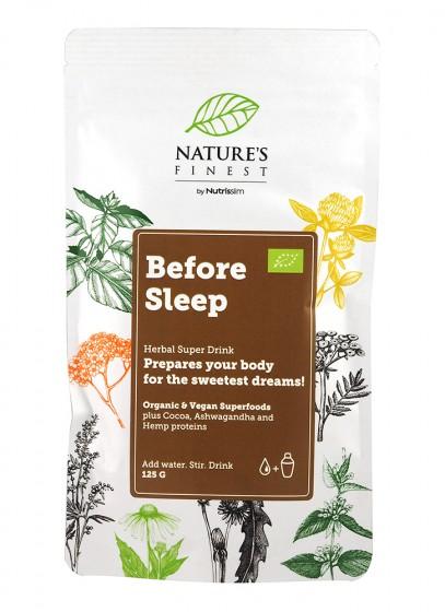 """Хранителна добавка на прах """"Before Sleep"""" - био - 125 г,  125 г"""