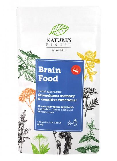 "Хранителна добавка на прах ""Brain food"" - 125 г, Nutrisslim,  125 г"