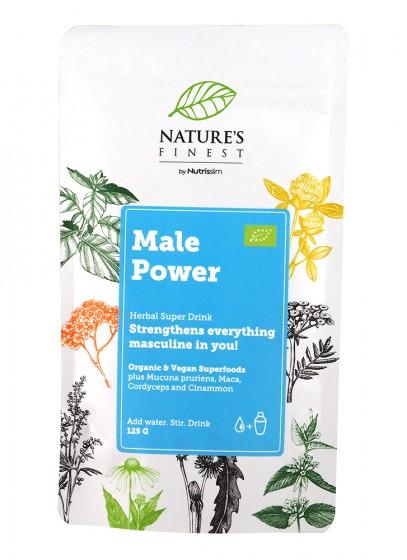 "Хранителна добавка на прах ""Male Power"" - био - 125 г, Nutrisslim,  125 г"