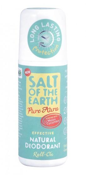 Натурален рол-он дезодорант Pure Aura - пъпеш - 75 мл, Salt of the Earth,  75 мл