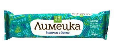 """Вафла """"Лимецка"""" - ванилия с кокос - 30 г"""