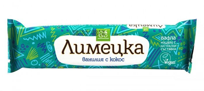 "Вафла ""Лимецка"" - ванилия с кокос - 30 г, Ecosem,  30 г"