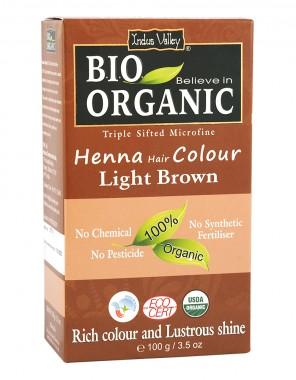 Билкова боя за коса светло кестеняво - био - 100 г