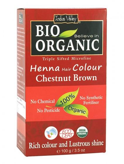 Билкова боя за коса червеникаво-кестеняво - био - 100 г