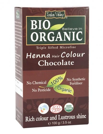 Билкова боя за коса Шоколад - био - 100 г, Indus Valley,  100 г
