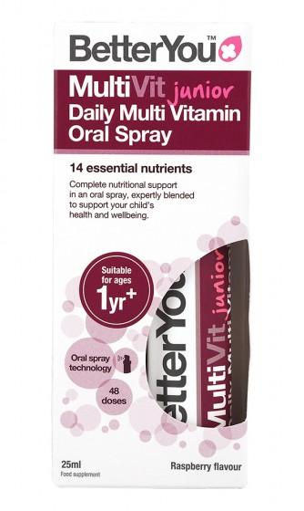 Мултивитамини за деца MultiVit junior - спрей - 25 мл, BetterYou,  25 мл