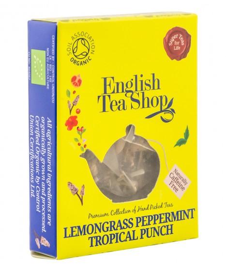 Органичен чай Тропически пунш - мента и лимонена трева - 2 г, English tea shop,  2 г