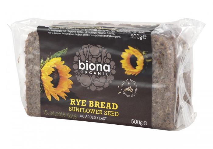 Ръжен хляб със слънчоглед - био - 500 г