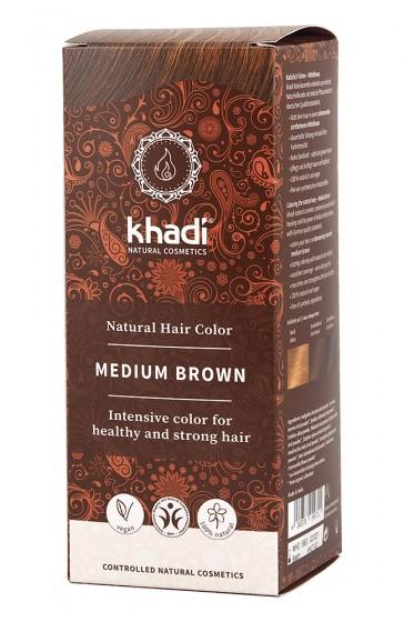 Билкова боя за коса - кестеняво, Khadi,  1 бр