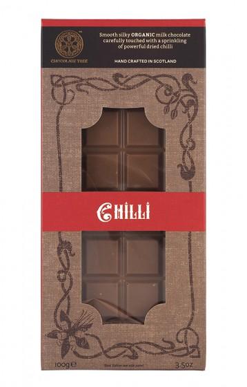 """Млечен шоколад """"Чили"""" - био - 100 г, Chocolate Tree,  100 г"""