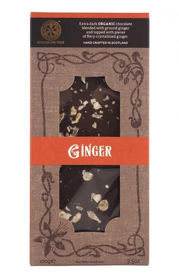 "Тъмен шоколад ""Джинджифил"" - био - 100 г, Chocolate Tree,  100 г"