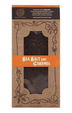 "Тъмен шоколад ""Морска сол и карамел"" - био - 100 г"