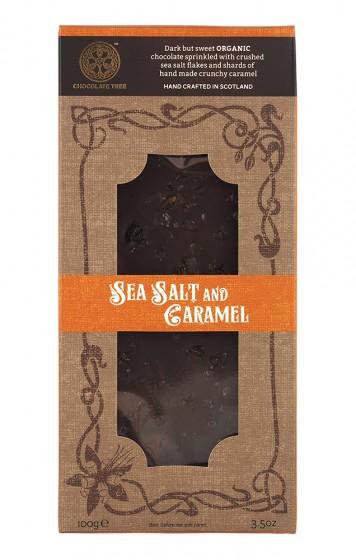 """Тъмен шоколад """"Морска сол и карамел"""" - био - 100 г, Chocolate Tree,  100 г"""