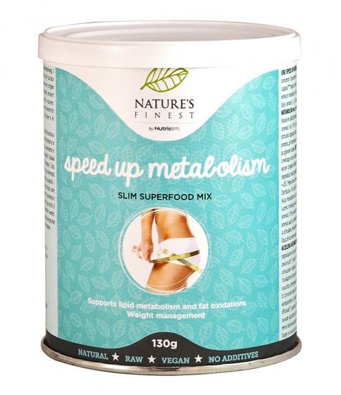 Хранителна добавка на прах Speed up Metabolism - 130 г, Nutrisslim,  130 г