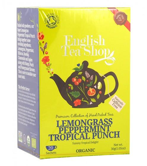 Органичен чай Тропически пунш - мента и лимонена трева - 20 пакетчета