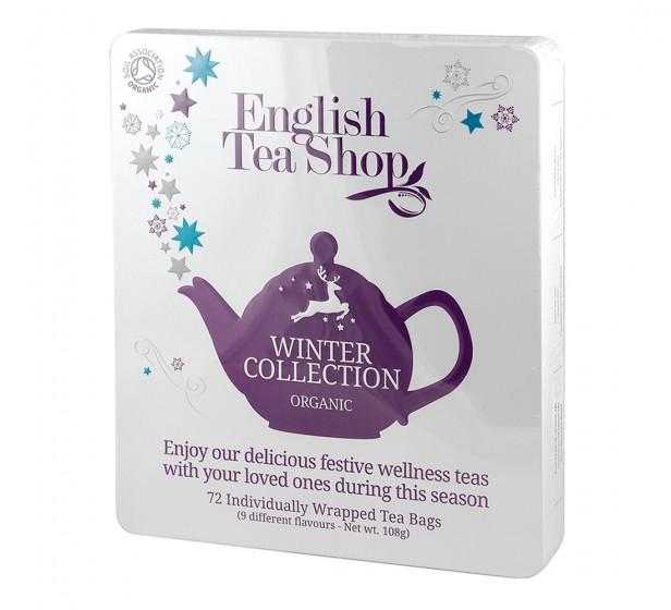 Зимна колекция био чай - 72 пакетчета/9 вида, English tea shop,  72 бр