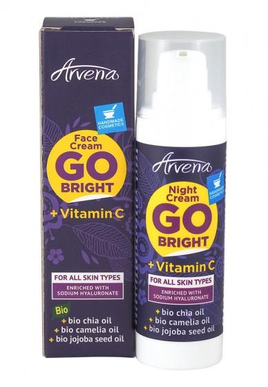 Нощен крем за лице с витамин C - 30мл, Arvena,  30 мл