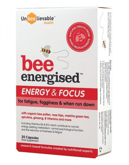 Формула с пчелен прашец Energy & Focus - 20 капсули, Unbeelievable Health,  20 бр