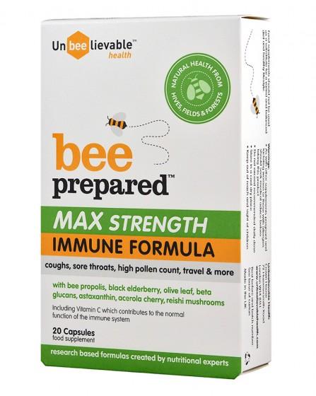 Bee Prepared - Max Strength - 20 capsules, Unbeelievable Health,  20 pcs