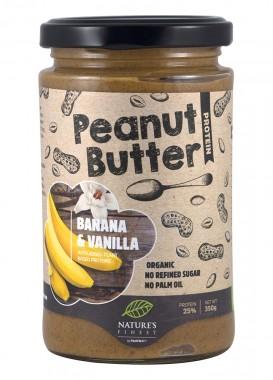 Фъстъчено масло Банан и ванилия - био - 350 г