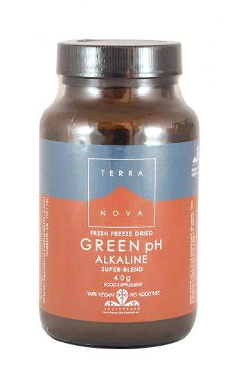 Зелена алкализираща смес от суперхрани - 40 г, Terra Nova,  40 g
