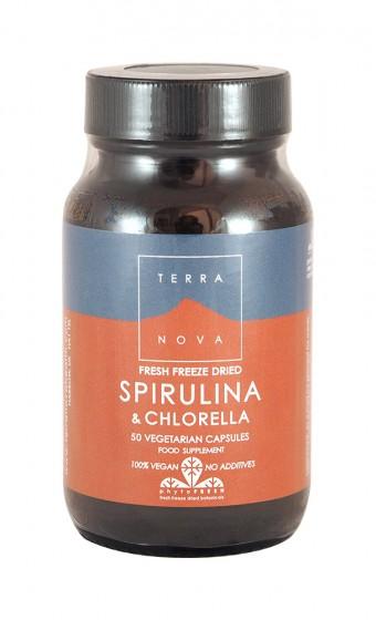 Спирулина и хлорела - 50 капсули, Terra Nova,  50 бр
