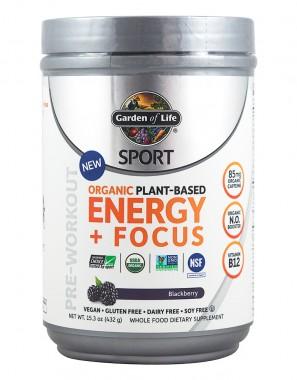 Разтворима спортна напитка Energy + Focus - с къпинов вкус - 432 г