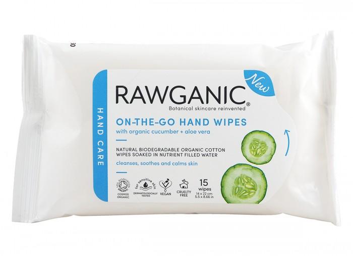 Мокри кърпички за ръце - 15 бр, Rawganic,  15 бр
