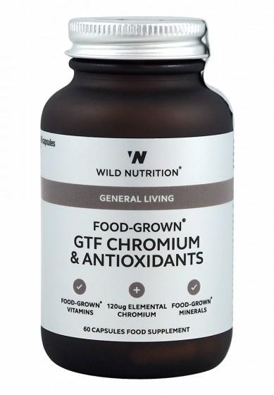Комплекс GTF хром и антиоксиданти - 60 капсули, Wild Nutrition,  60 бр