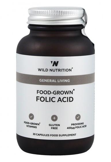 Фолиева киселина - 30 капсули, Wild Nutrition,  30 бр