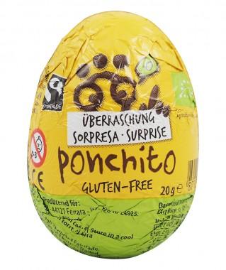 Шоколадово яйце с играчка-изненада - био - 20 г