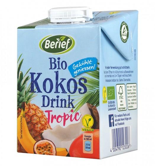 Кокосово-плодова напитка Тропик - био - 500 мл,  500 мл