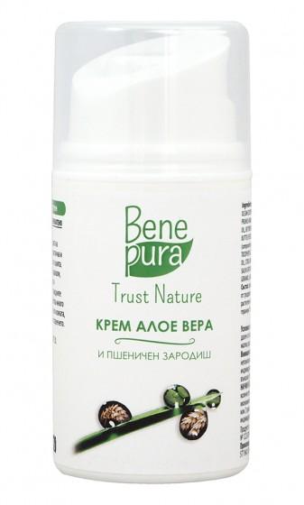 Натурален крем за лице с алое вера - 50 мл, Bene Pura,  50 мл
