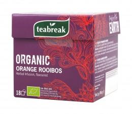 Билков чай с ройбос и портокал - био - 18 бр, teabreak,  18 бр