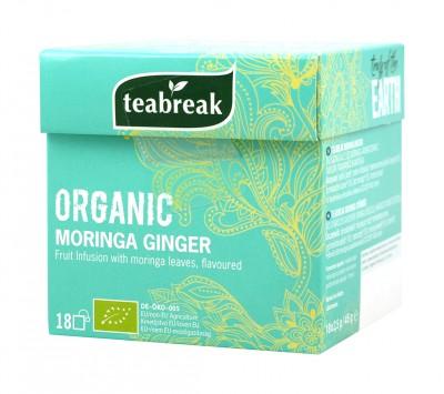 Плодов чай с моринга и джинджифил - био - 18 бр