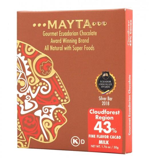 Млечен гурме шоколад 43% - Cloudforest - 50 г,  50 г